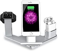 Charging Stand for Apple Watch,4 in 1 Charging Station for Apple Watch Series 1/2/3, Airpods,Compatible with iPhone X/8/8 Plus/7/7 Plus/6s/7s Plus