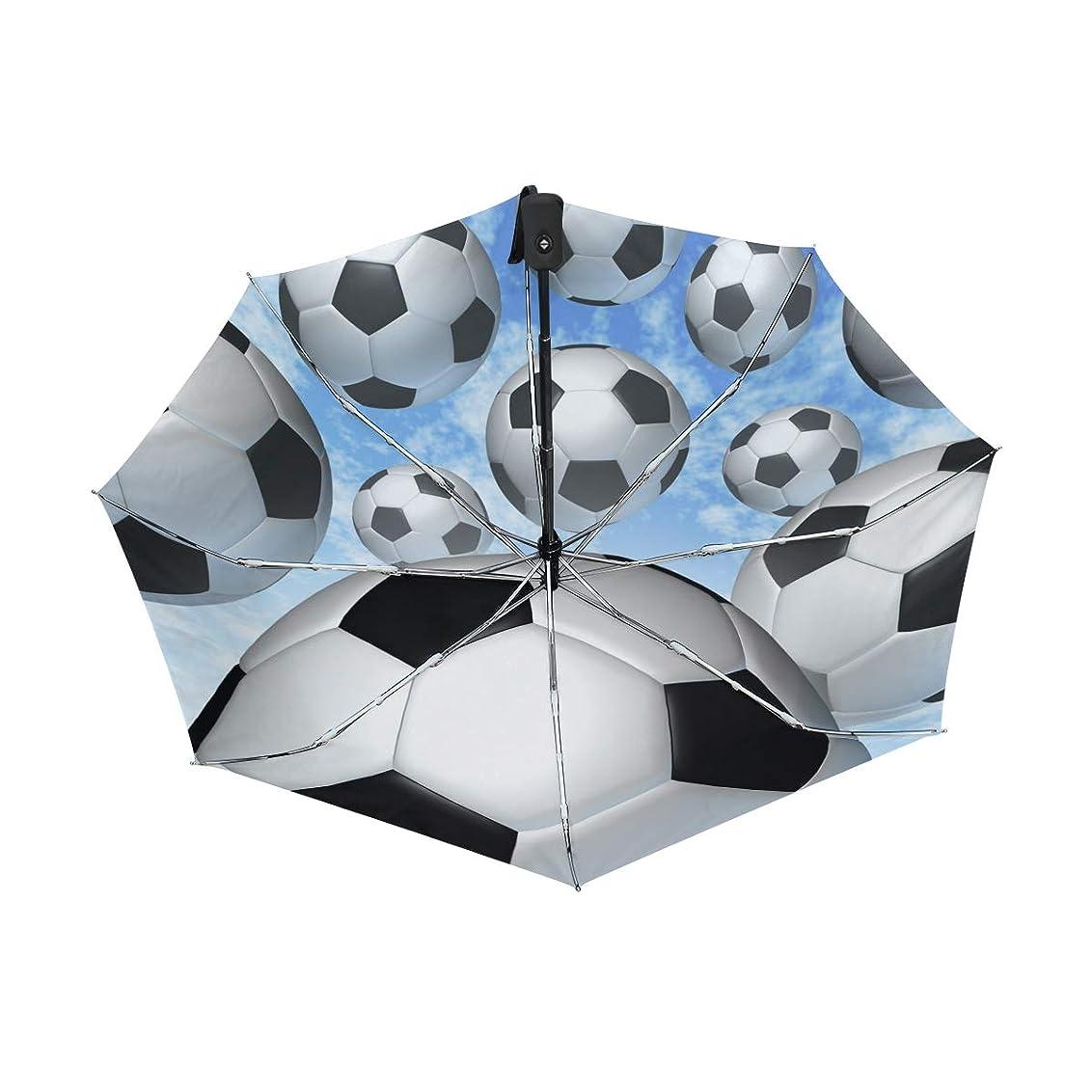 アーサーコナンドイルするにSUKAU 折り畳み傘 サッカー ボール柄 軽量 自動開閉 晴雨兼用 レディース 日傘 uvカット 遮光 折りたたみ 傘 メンズ ワンタッチ 紫外線対策 頑丈な8本骨 耐強風 収納ケース付