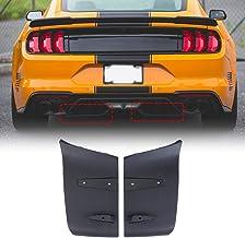 Protector 1 par de labios ABS del tope posterior de aire Difusor Valance Foil Kit for Ford Mustang 2016 2017 2018 2015 2019 GT R Estilo