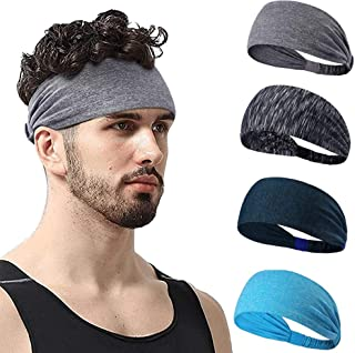 Baeskii Yoga Sport Athletic Headband for Running Sports Travel Fitness Elastic Wicking Workout Non Slip Multi Headbands He...