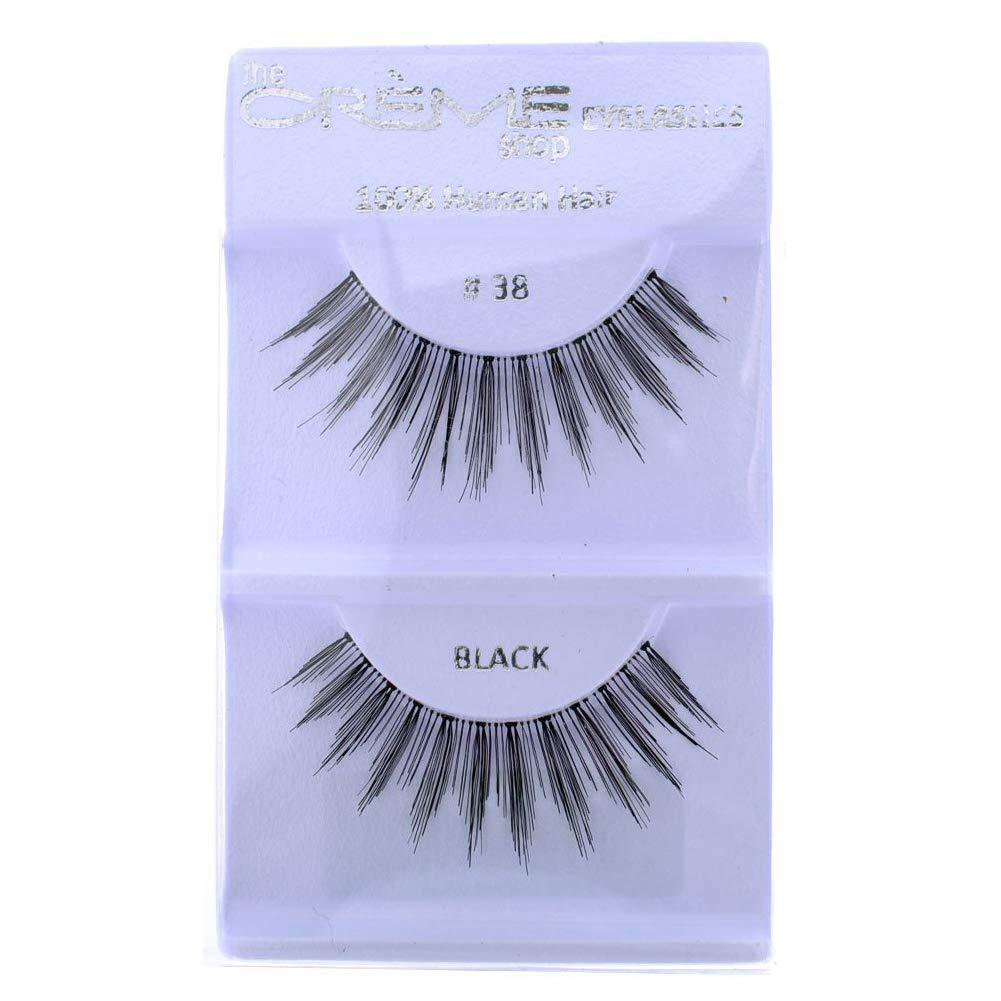 12 Pairs Import Crème 100% Human Store Eyelash Extensio Natural False Hair
