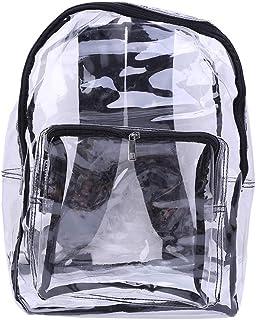 suoryisrty Mochila Transparente, Mochila Escolar, Mochila de Viaje con Mochila de PVC Bolsas Escolares con plástico Liso Completamente Transparente