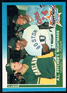 Baseball MLB 1987 Fleer #633 Jose Canseco/Jim Rice/Kirby Puckett AL Pitcher's Nightmare NM