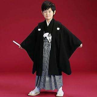 七五三 着物 正絹黒紋付 (正絹袴使用) フルセット おりびと-織美桐-