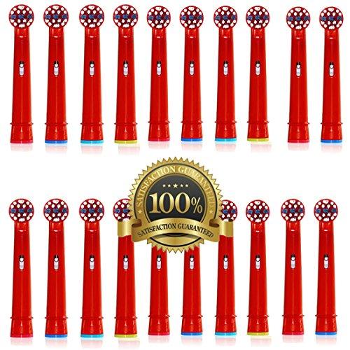 Drkao 20 Stück Aufsteckbürsten für Oral B Kinder Elektrische Zahnbürstenköpfe für Braun Oral B Elektrische Zahnbürste Kinder Aufsteckbürsten Köpfe für Oral-B kids Aus Hochwertigem Dupont-Nylon