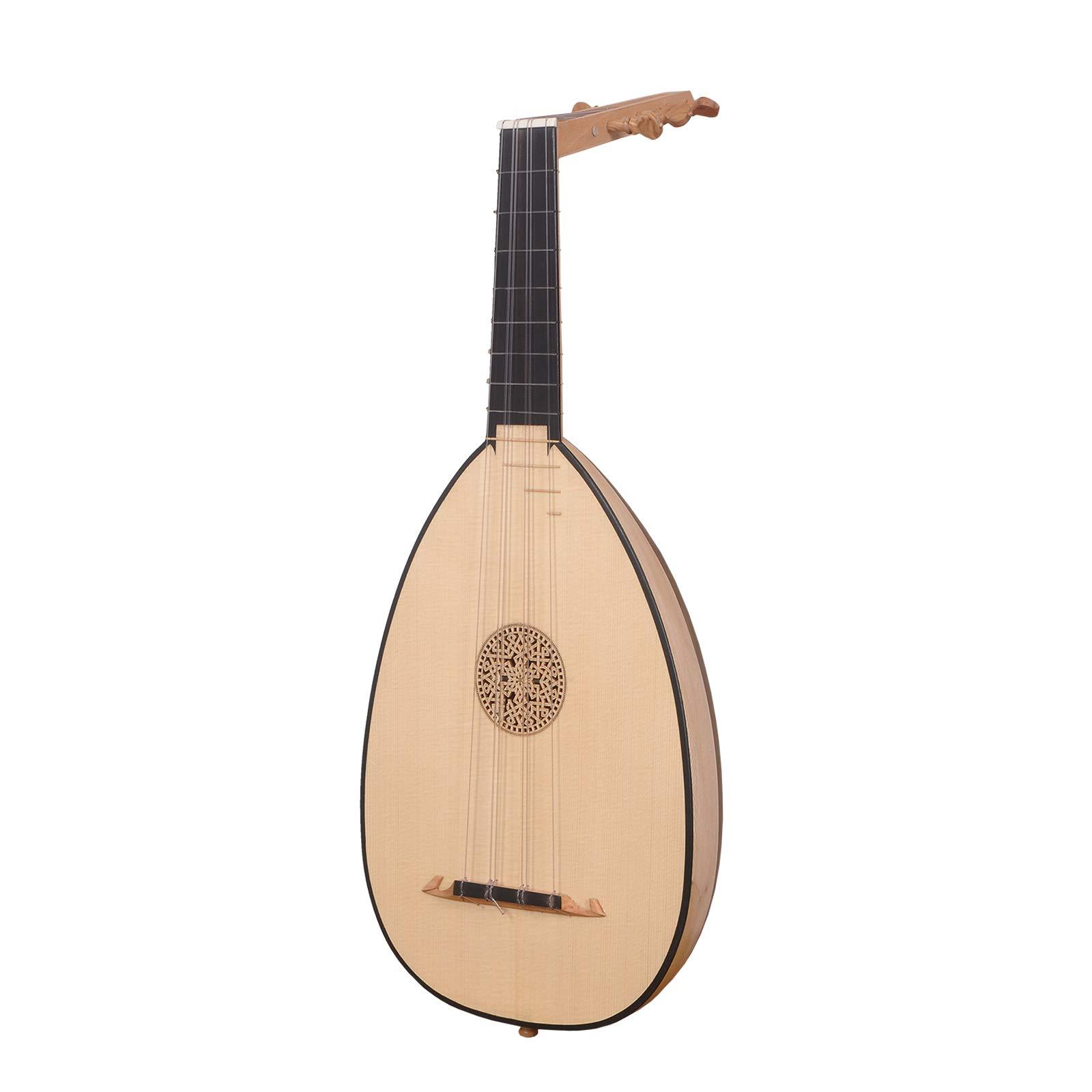 Ukelele Lute, 6 cuerdas tenor variegado madera de nogal: Amazon.es: Instrumentos musicales