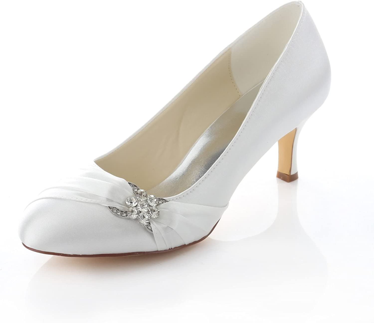Emily Bridal San Jose Mall 3780-1A Women's Wedding Shoes Closed 2.56 Inche Industry No. 1 Toe