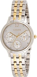 CITIZEN Womens Quartz Watch, Analog Display and Stainless Steel Strap - ED8184-51A
