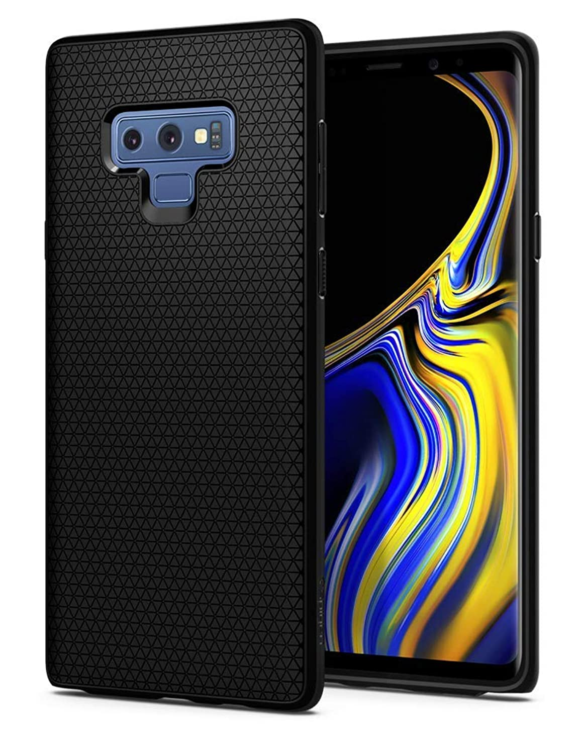 Compatible Case for Samsung Galaxy Note9 Note 9 2018 2019 Unique Premium Luxury Alcantara Style Cover Durable and Resistant Shock Absorption Drop Protection Defender Series - Black