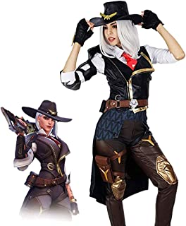 Women's OW Ashe Halloween Game Cosplay Costumes Full Battle Suit Party Dress Up Outfit Sets