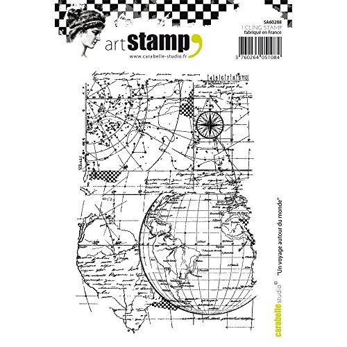 Carabelle Studio Cling Stamp Art, Stempel Set, Eine Reise um die Welt, für Papierbasteln, Stempelprojekte, Kartengestaltung und Scrapbooking