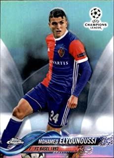 2018 Topps Chrome UEFA Champions League Refractor #33 Mohamed Elyounoussi FC Basel 1893 Soccer Card