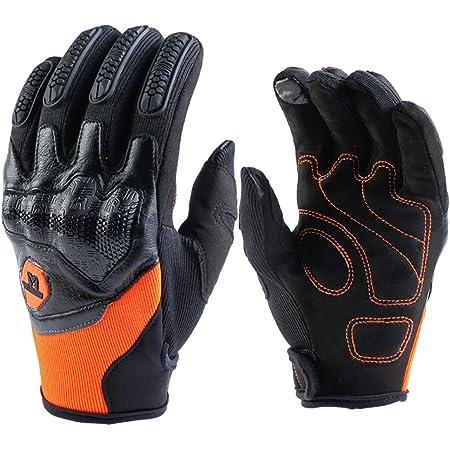 Motorradhandschuhe Held Cross Handschuhe Herren Frau Damen Touchscreen Motorrad Handschuhe Für Radfahren Atv Alle Jahreszeiten Orange Xl Auto