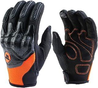 Motorradhandschuhe Held Cross Handschuhe Herren Frau Damen Touchscreen Motorrad Handschuhe für Radfahren ATV Alle Jahreszeiten(Orange,XL)