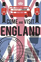 Come and Visit England UK Retro Travel Tourism Cool Wall Decor Art Print Poster 12x18