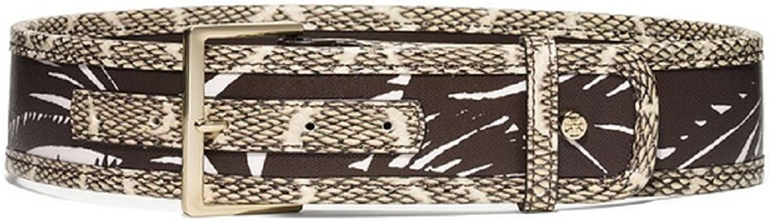 Tory Burch Square Buckle Mixed Belt Tabora