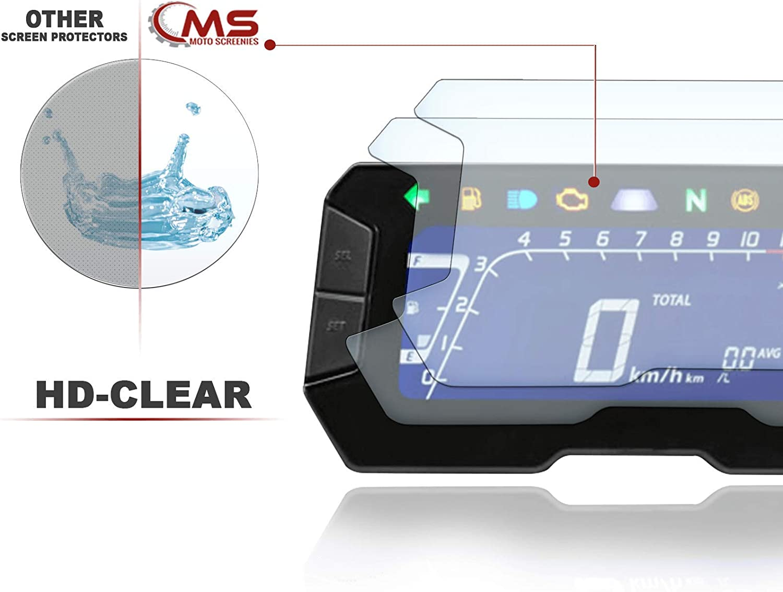 CB300R 2018 1x Ultra Clear Displayschutzfolie Tacho Schutzfolie geeignet f/ür Honda CB125R 1x Anti Glare 2 St/ück