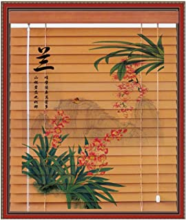 Bedding Collections Home & Kitchen Bamboo Curtain Shading Retro Roller Blind Cut Off Living Room Bedroom Multiple Sizes Can Be Customized Roller Blind Bamboo Curtain Blinds Color : C, Size : 135x300cm