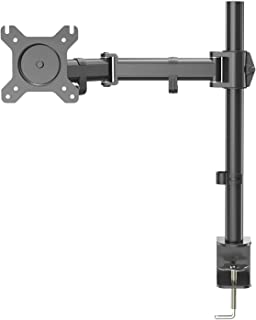 PROMIC Single LCD Monitor Stand Desk Mount Heavy Duty Fully Adjustable Monitor Arm with Tilt and Swivel, Fits Screens up to 27