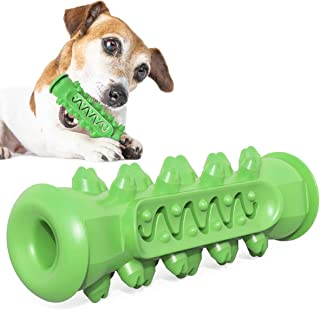 USWT Dog Toothbrush Dog Teeth Cleaning Molar Stick Toys Puppy Chew Toys Doggy Oral Dental Care (Green)