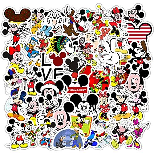Miotlsy 100 Mickey Adesivi Adesivi per Valigie di Topolino Album Graffiti per Laptop, Skateboard, Bagagli, Bicicletta, Bambini, Fai da te