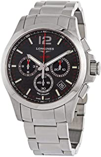Longines Conquest V.H.P. Perpetual Chronograph Black Carbon Dial Quartz Men's Watch L37174666