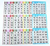SmallToys Bingo Paper Game Cards - 3 Cards - 10 Sheets - 100 Books - 4 Inch by 12 Inch Size Disposable Sheet - Made in USA