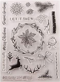 Ladaidra Wreath Deer Silicone Clear Seal Stamp DIY Scrapbooking Embossing Photo Album Art