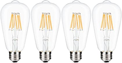 LEDMOMO Led Edison Bulb, W Dimmable Led Light Bulb, W Incandescent Equivalent E Medium Base Lamp As Shown