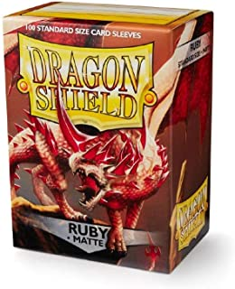 Dragon Shield Matte Ruby Standard Size 100 ct Card Sleeves Individual Pack