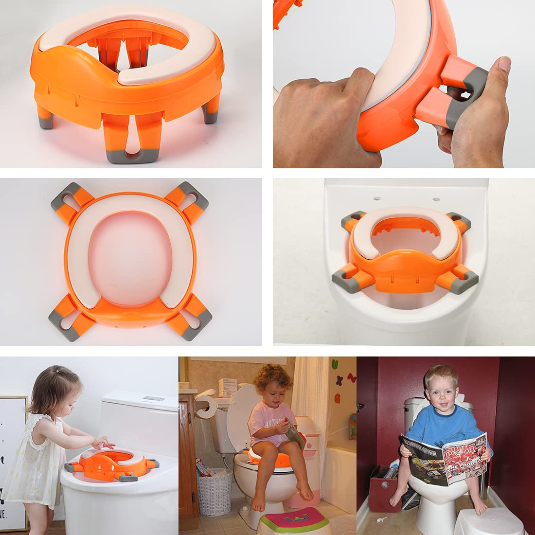 Portable Travel Potty Seat for Toddler Potty Chair Kids Portable Toilet for Camping Car