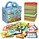 TEYTOY Baby Toy Zoo Series 26pcs Soft Alphabet Cards with Cloth Bag...