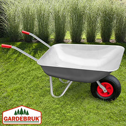 Deuba Monzana® Schubkarre 80L Bauschubkarre bis 200kg Gartenkarre | 200kg Belastbarkeit | verzinkter Stahlrohrrahmen - 5