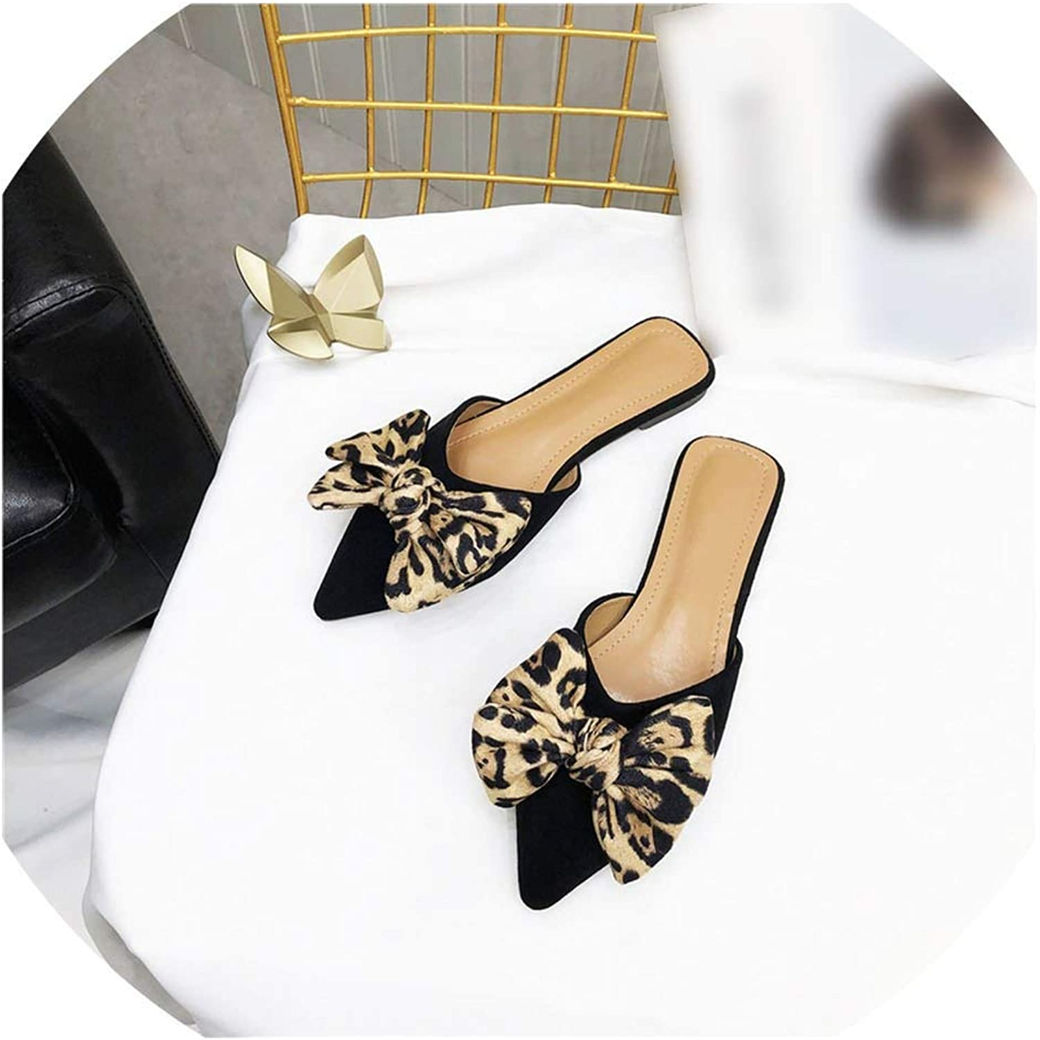 Flat Slippers Ladies Dress Woman shoes Pointed Toe Slides Slippers Women