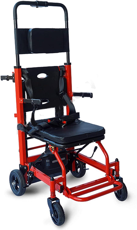 FBKPHSS Multifunción Silla de Ruedas, Silla de Ruedas Eléctrica para Subir Escaleras con Orugas 160 kg de Carga para Discapacitados y Ancianos Silla de Ruedas
