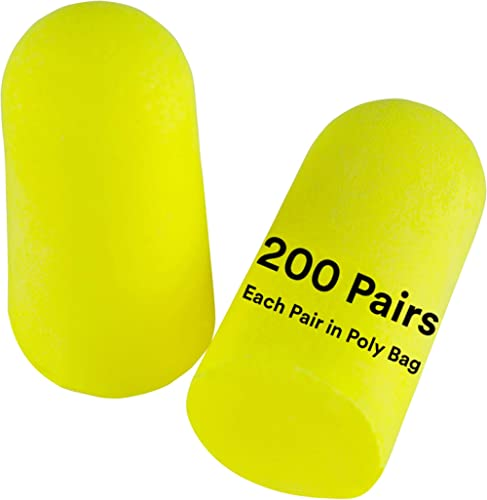 3M - 80529120639 Personal Protective Equipment Ear Plugs, E-A-Rsoft Yellow Neons 312-1250, Foam, Uncorded, Disposable...