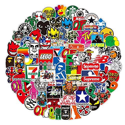 Marea marca logotipo personalizado pvc impermeable graffiti etiqueta Notebook maleta casco agua taza guitarra etiqueta 100 unids