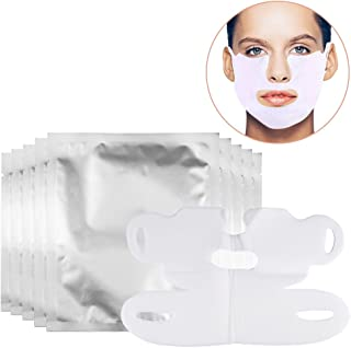 10 Piece Facial Slimming Lifting Chin Belt, V-Shaped Thin Face Hydrotherapy Whitening Pull Mask for Neck and Chin Lift Anti-Aging, Reduce Wrinkles, Dark Spots and Fine Lines, Reduce Double Chin
