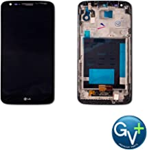 Group Vertical Replacement Complete Frame LCD Touch Digitizer Screen Assembly Compatible with LG G2 (Black) (VS980) (GV+ Performance)