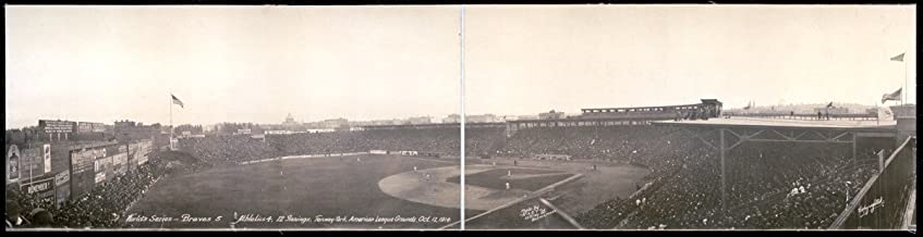 Historic Panorama Photographs 1914 Worlds Series, Braves- Athletics 4,Innings, Fenway Park, American League Gr