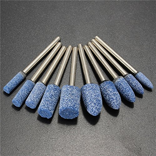 DyNamic 10Pcs Zoll Zoll Shank Blauen Abrasive-Montierten Steinwerkzeug-Werkzeug Schleifchen Für Dremel