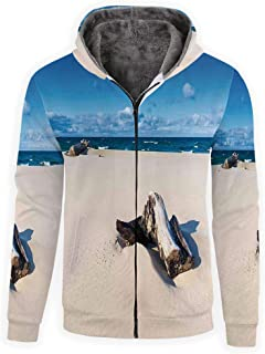 MOOCOM Mens Hedgehog Crewneck Sweatshirt-Unisex