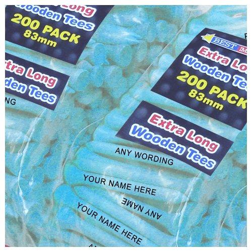 Extra larga personaliseitonline Tees de Golf (200 unidades) azul claro