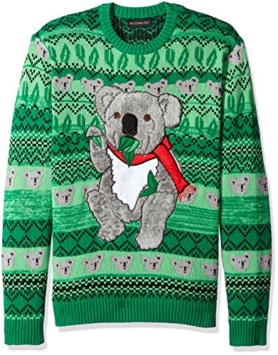 Blizzard Bay Men's Ugly Christmas Sweater Animals, Green/Light Green, X-Large