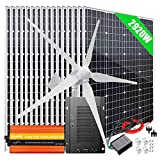 2920W Wind Solar Kit Off Grid System 48V Battery Charger :16x 120W Mono Solar Panel + 1000W Wind Turbine Generator + 40A MPPT...