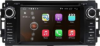 hizpo Android 10 OS 6,2 Zoll 1 Din Auto Navigation DVD Player Radio Stereo Fit für Jeep Wrangler Chevrolet Dodge Chrysler mit Mirrorlink Bluetooth WiFi 4 G RDS OBD2 DVR DAB + TPMS