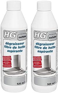 HG dégraisseur filtre de hotte aspirante – un nettoyant hotte inox efficace - Lot de 2