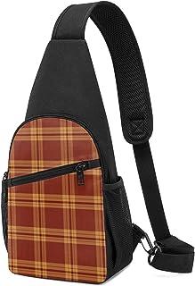 Prairie Dog Plaid Sling Bag - Mochila ligera para el hombro, bolso cruzado para viajes, senderismo, para hombres y mujeres