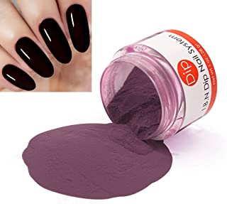 Dark Red Dipping Powder (Added Vitamins) I.B.N Nail Dip Acrylic Powder, 1 Ounce (DIP 032)