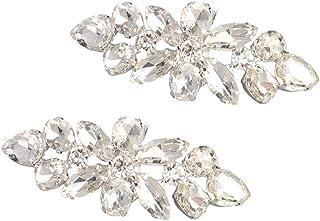 IPOTCH 1 Paio Clip di Perline con Diamanti Dimitazione Charms Decorazione per Scarpe da Sposa Piatte//Tacco Alto come descritto #A